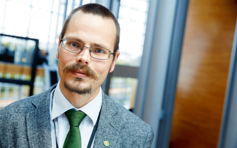 Max Andersson (MP). Bild: Fredrik Persson/TT