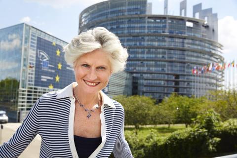 Anna Maria Corazza Bildt (M) är den som röstkorrigerat flest gånger av de svenska ledamöterna i EU-parlamentet. Foto: Fredrik Persson / TT