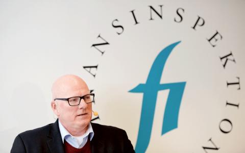 """FI lägger fram de nya föreskrifterna om amorteringskrav i juni. """"Amorteringstakten bestäms av hela lånebeloppet"""", säger Per Håkansson, chefsekonom på FI. Bild: Jessica Gow/TT"""