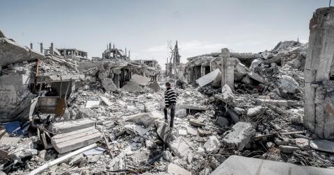 Kobane är numera en stad i ruiner.   Bild: Magnus Hjalmarson Neideman/SvD/TT