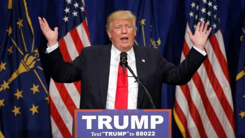 Donald Trump. Bild: Charles Rex Arbogast/AP