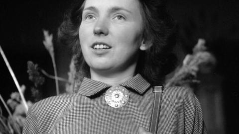 Ingrid Johansson, lärarinna vid Bodaborg Sinnesslöanstalt som 1950 larmade om missförhållanden vid anstalten. Bild: Sundsvalls museum/Fotoarkivet