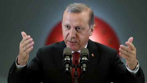 Turkiets president Recep Tayyip Erdoğan. Bild: Murat Cetinmuhurdar/AP