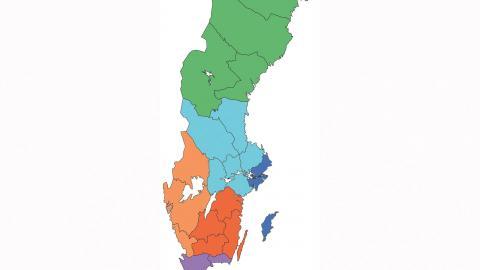 En tvåmannautredning arbetar på regeringens uppdrag med att ta fram ett förslag som ska göra dagens 21 landsting till sex storregioner.