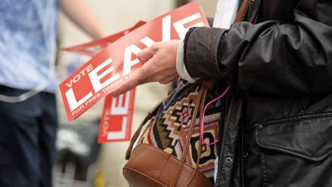 """""""Vi kan så klart finna det komiskt att britterna först efter omröstningen tycks ha intresserat sig för vad ett utträde ur den europeiska gemenskapen egentligen innebär. Men tyvärr är det inte ett politiskt klimat exklusivt för Storbritannien"""" Bild: Sofia Eriksson/TT"""