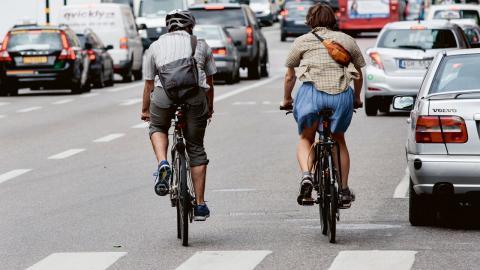 Det är bara i världens allra mest förorenade städer som cyklingen kan ifrågasättas ur ett hälsoperspektiv, skriver Ingela Björck. Bild: Christine Olsson/TT