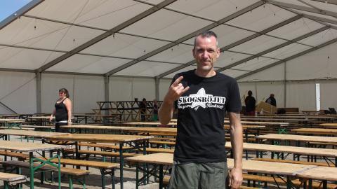 Festivalgeneralen Stefan Arvidsson tror på rekordpublik när legendariska Thin Lizzy gästar Skogsröjet.  Bild: Anna Mi Skoog