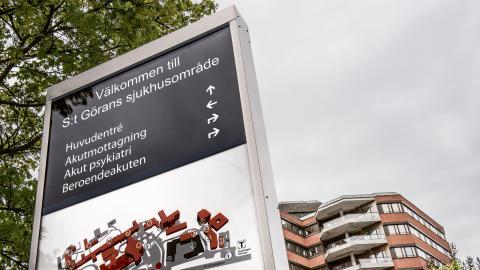 I dag finns bara ett större akutsjukhus i privat regi, Sankt Görans sjukhus. Resultaten därifrån är goda, menar debattören.  Bild: Tomas Oneborg/SvD/TT