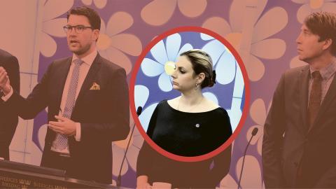 Paula Bieler kommer att vara ett affischnamn för Sverigedemokraterna under kommande valrörelse. Målsättningen är att fler kvinnor ska rösta på SD för första gången. Hon är ansvarig för jämställdhetspolitiken. Bild: Claudio Bresciani/TT