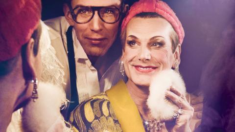 De två huvudrollerna i La Cage aux Folles, Georges och Albin/Zaza spelas av Pontus Plænge och  Richard Carlsohn.  Bild: Jonas Carmhagen