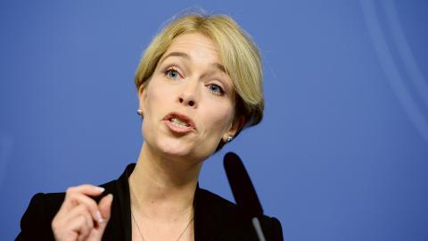 Socialförsäkringsminister Annika Strandhäll (S). Bild: Maja Suslin/TT