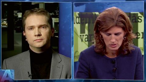 I torsdags sände Aktuellt intervjun med Vávra Suk, chefredaktör på den högerextrema tidningen Nya tider. Bild: SVT