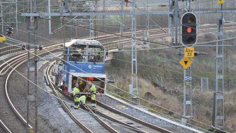 Underhållet är eftersatt på stora delar av järnvägsnätet.  Bild: Johan Nilsson/TT