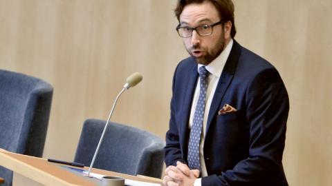 Fredrik Malm, (L).  Bild: TT