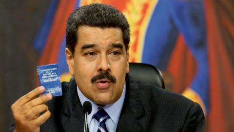 Venezuelas president Nicolás Maduro. Bild: Ariana Cubillos/AP