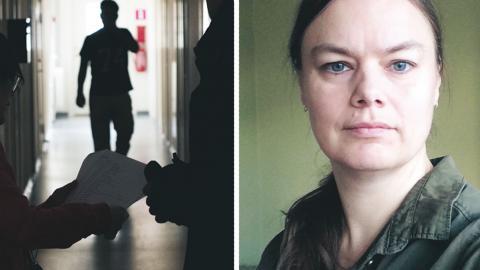 """""""Mina arbetsdagar är oändligt tunga. Mina unga patienter gråter, skakar och beskriver en skräck inför framtiden som är större än jag med ord kan beskriva"""", skriver Anna Olsson. bild Fredrik sandberg/TT"""