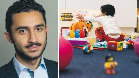 """""""Idag är svensk barnomsorg ett klassamhälle, även för pysslingarna själva"""", skriver Daniel Riazat (V). bild Pontus Lundahl/TT"""