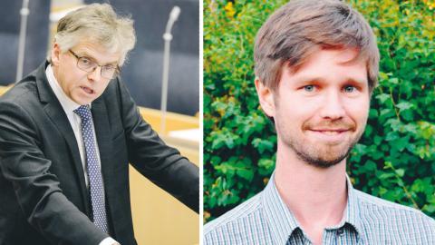 Centerpartiets Per Åsling. Debattören Rasmus Ling (MP) Skattepolitisk talesperson bild Vilhelm Stokstad/TT