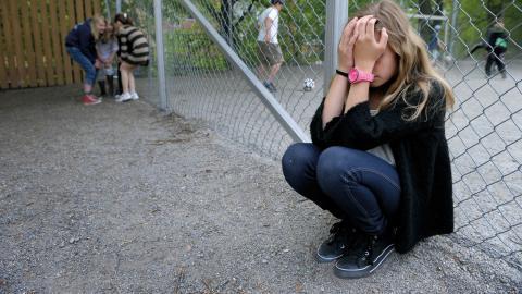 """""""Friends rapporterar att hela 45 procent av eleverna i årskurs 6–9 anser att lärarna ibland, sällan eller aldrig agerar när någon blir kränkt."""" Bild: Janerik Henriksson/TT"""