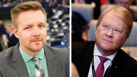 """""""Vi har haft samtal med bland annat Lars Adaktusson (KD), Gunnar Hökmark (M) och Fredrick Federley (C) men de har avböjt."""" skriver debattören Bild: FREDRIK PERSSON, Pontus Lundahl / TT"""