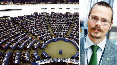 EU-parlamentet. / Max Andersson (MP). Bilder: Fredrik Persson/TT