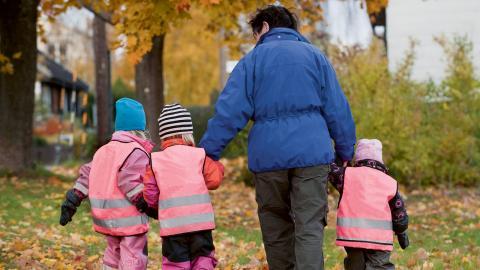 Stockholms stad har infört rätt till heltid på förskolan för barn till föräldralediga bild Jonas Ekströmer/TT