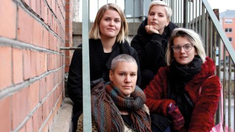 Malin Zingmark, Sofie Larsson, Eva Cederwall och Cerefie Byrge är några av Klubb Kahlos medlemmar. Bild: Lisa Karlsson