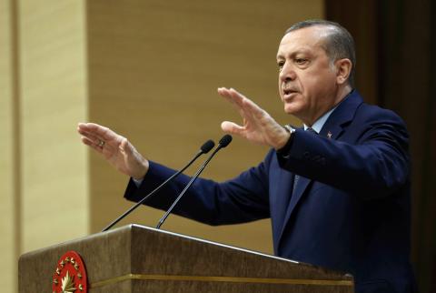 Det är viktigt att stödja turkiska HDP mot president Erdogans förtryck, skriver representanter för SSU idag. Bild: Murat Cetinmuhurdar/AP/TT