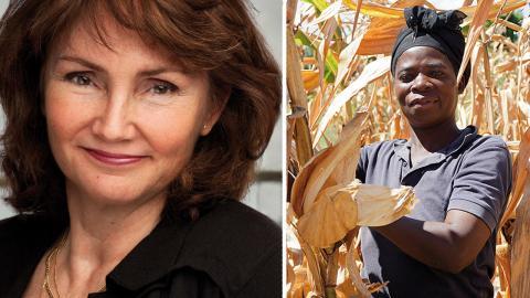 Anneli Rogeman, vd We Effect: Vårt matsvinn bidrar till klimatförändringar som drabbar fattiga bönder i utvecklingsländer. På bilden Mina Anusa i Malawi.  Foto: Malin von Strauss