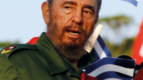 Fidel Castro. Bild: Javier Galeano/AP
