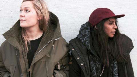 Signe Bankefors och Meriyam Ericsson från Norrköping bildar tillsammans Exon Banks – ett av ett hundratal band som kommer att spela under Where's the music nästa vecka.  Bild: Kim Nilsson