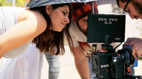 "Arbetet med ""April"", kortfilmen som Chantale Hannouch gjorde som examensarbete på Notre Dame University i Libanon.  Bild: Chantale Hannouch"