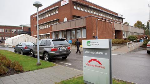 Migrationsverkets kundcenter på Agnesfridsvägen i Malmö.  Bild: Drago Prvulovic/TT