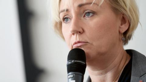Forskningsminister Helene Hellmark Knutsson (S).  Bild: Pontus Lundahl /TT