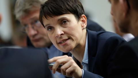 Frauke Petry, ordförande i AfD. Bild: Michael Sohn, Ap