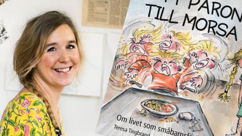 Teresa Tingbrand är aktuell med boken Ett päron till morsa.  Bild: Jezzica Sunmo