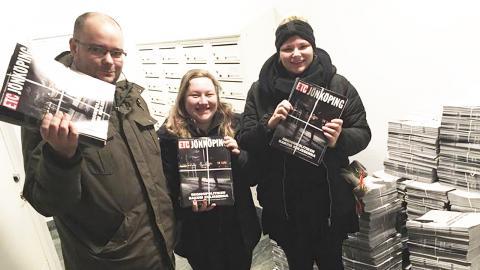 I dag kom första numret av ETC Jönköping ut. 10 000 exemplar av tidningen delas ut på stan.