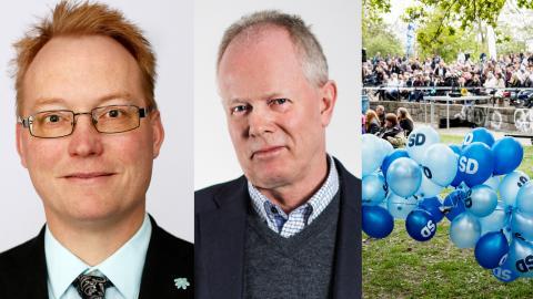 Ulf Erlandsson, SD:s gruppledare i Hässleholm. / Pär Palmgren (M), kommer att ta över som kommunalråd i Hässleholm. Bilder: AM-tryck / Christine Olsson/TT
