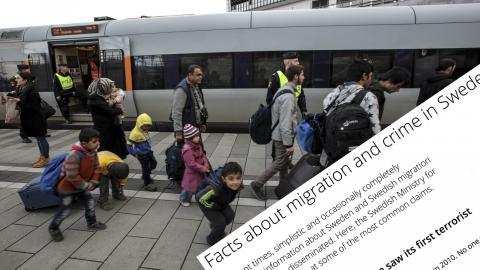 Refugees at Hyllie train station i Malmö, Sweden in november 2015. Bild: Stig-Åke Jönsson/TT