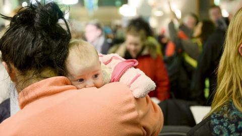 I slutet av januari påbörjade gravida kvinnor och andra sympatisörer en ockupation av sjukhuset i Sollefteå i protest mot nedläggningen av förlossningen.  Bild: Izabelle Nordfjell/TT