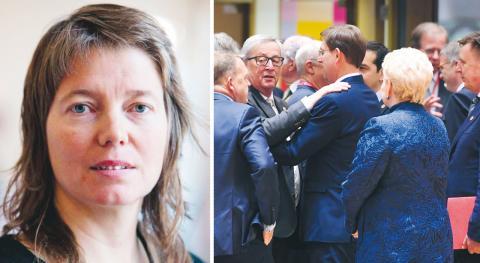 Malin Björk (V): För den som söker lösningar för hur vi bygger hållbara och solidariska samhällen finns inget att hämta i Junckers fem EU-scenarier eller i EU-parlamentets betänkande. bild Geert Vanden Wijngaert/AP