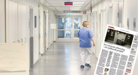 I Dagens ETC 17 mars skrev Jonas Fäldt och Jakob Asph om sex timmars arbetsdag som ett nyliberalt projekt.  Bild: Erik Nylander/TT