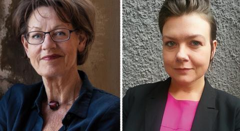 Gudrun Schyman och Linnéa Bruno. Bild: Elisabeth Ohlson Wallin/pressbild Fi