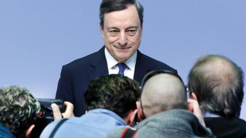 """""""I juli 2015 tillfrågades Mario Draghi, ECB:s president, om att lämna ut Greekfiles men Mario Draghi vägrade"""" Bild: Michael Probst"""