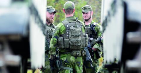 Vi motsätter oss övningen därför att det är en krigsövning som bidrar till det försämrade säkerhetsläget runt Östersjön, skriver debattören.  Bild: Sören Andersson/TT