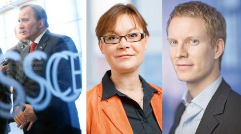 Stefan Löfven (S). / Karin Pilsäter och Samuel Engblom, TCO. Bilder: Christine Olsson/TT / TCO
