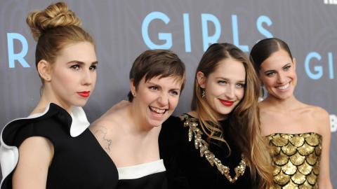 Zosia Mamet, Lena Dunham, Jemima Kirke och Allison Williams. Bild: Ap