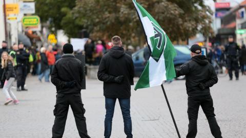 Nazister i Almedalen 2016. Bild: Tommy Söderlund/TT