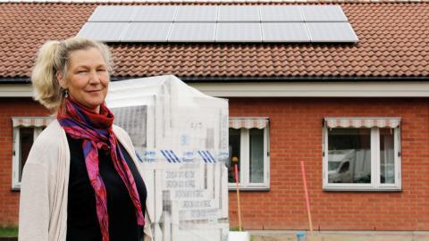 På Linde energis kontor sitter en solelsanläggning på 3 kW.  Bild: Rose-Marie Fasth