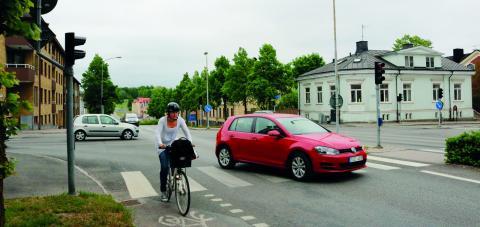 Växjö kommun satsar på cykelvägarna och har också flera olika projekt för att få människor att cykla mer.  Bild: Linda Alfons